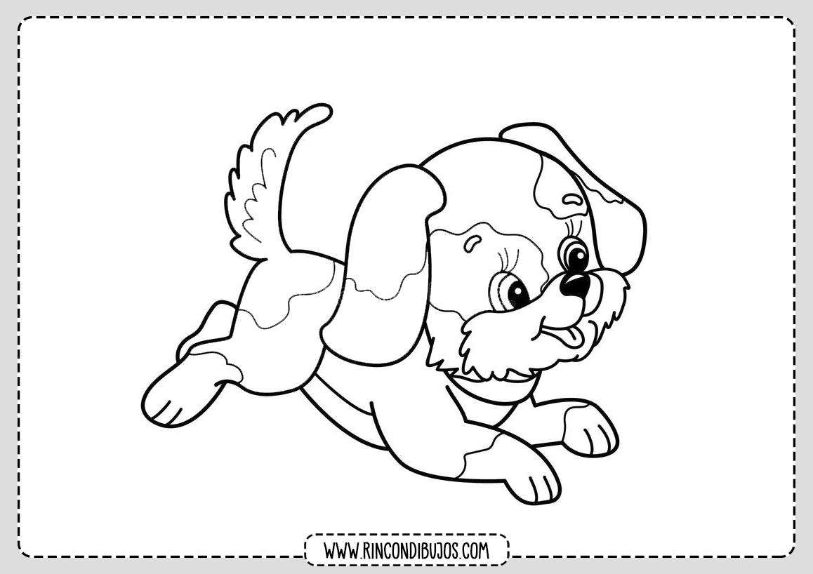 Como dibujar un perro y colorear