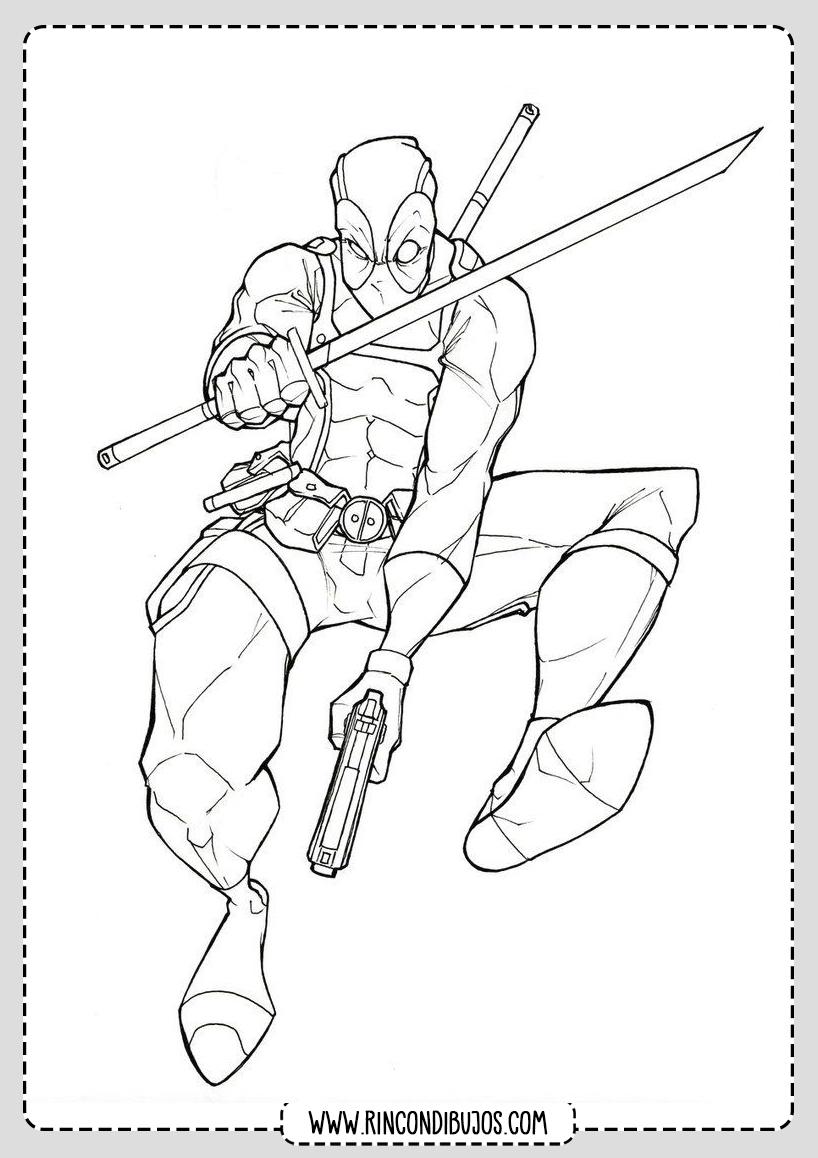 Deadpool para Colorear