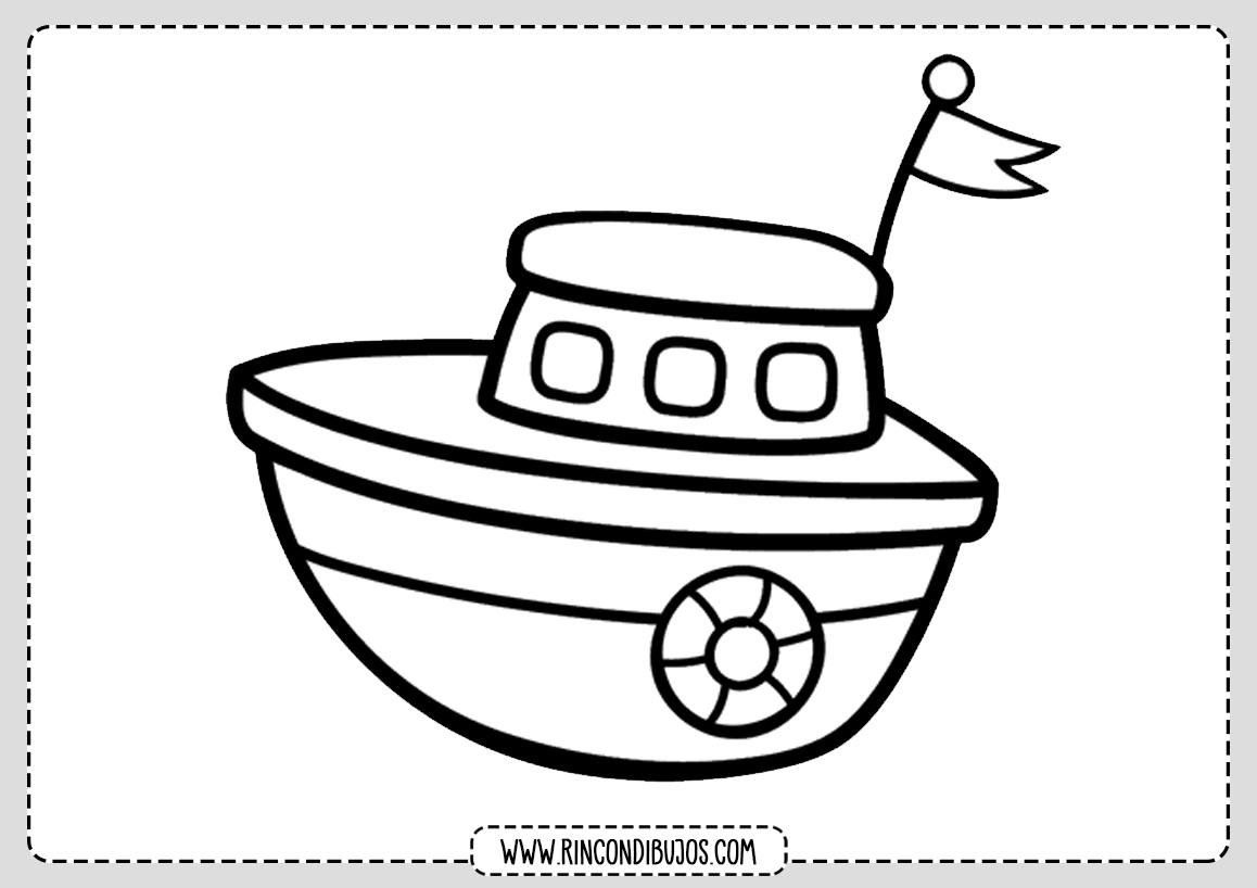 Dibujito Colorear Barco
