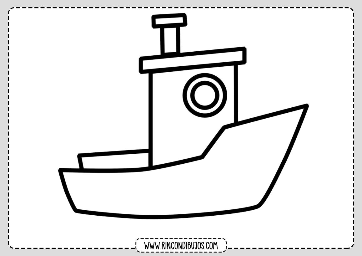 Dibujo Barco Colorear Para Niños