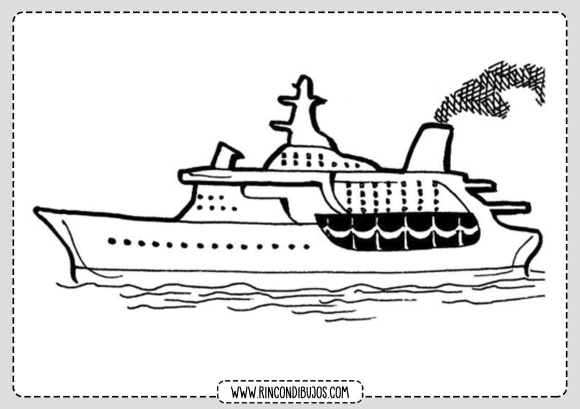 Dibujo Barco Grande para Colorear