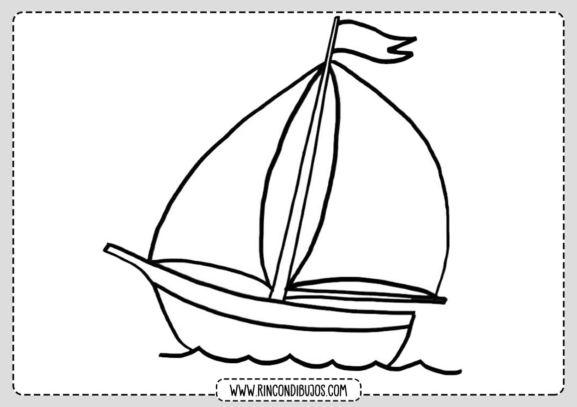 Dibujo Barco Velero Colorear