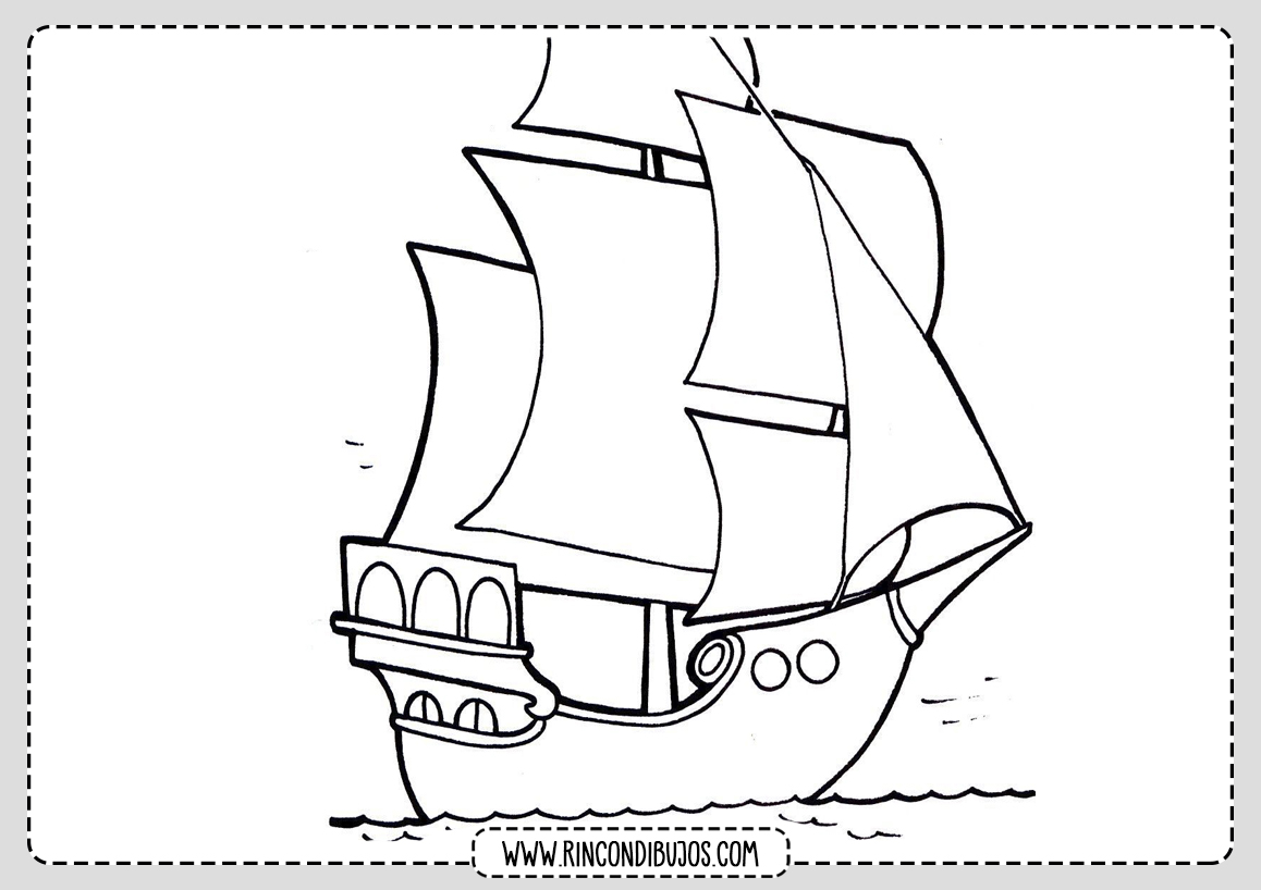 Dibujo Colorear Barco