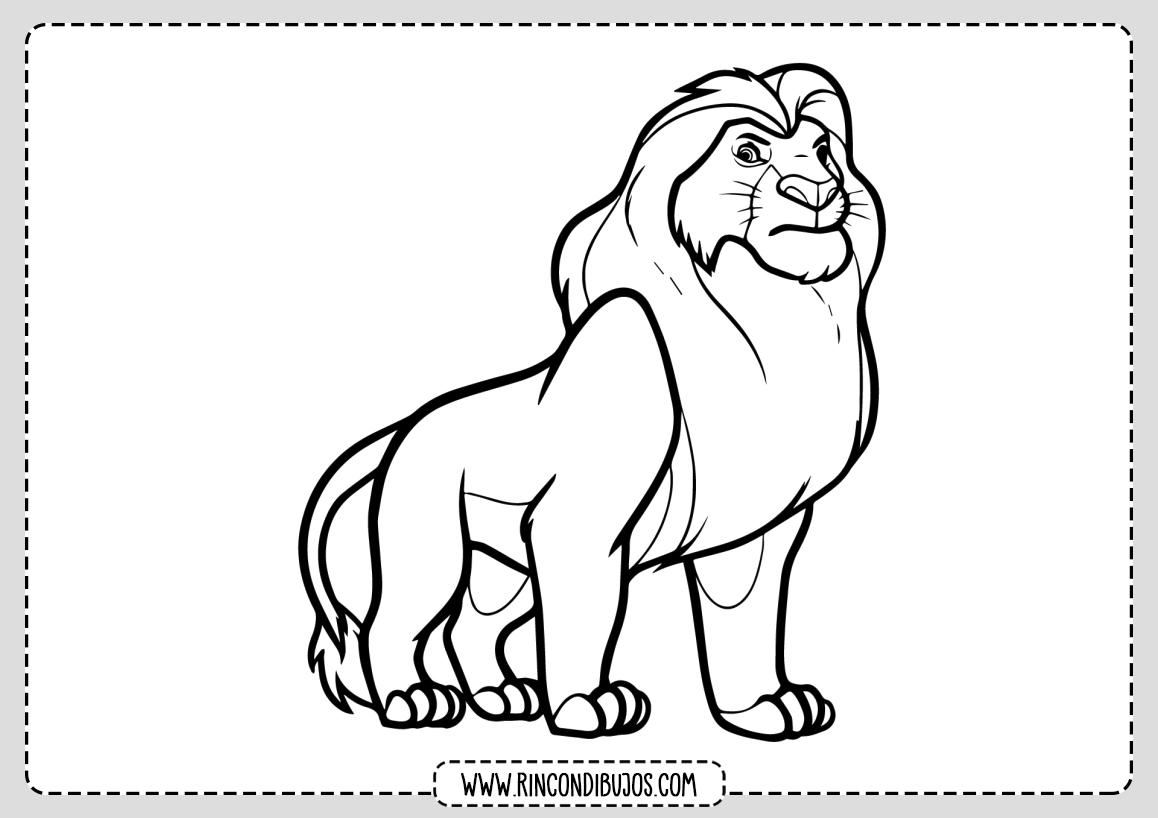 Dibujo Leon El rey leon Mufasa
