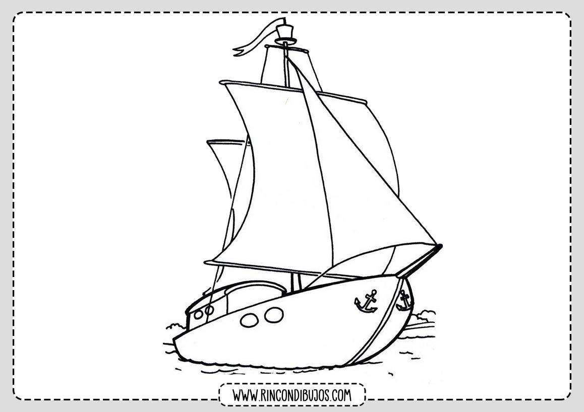 Dibujo de Barco para Pintar