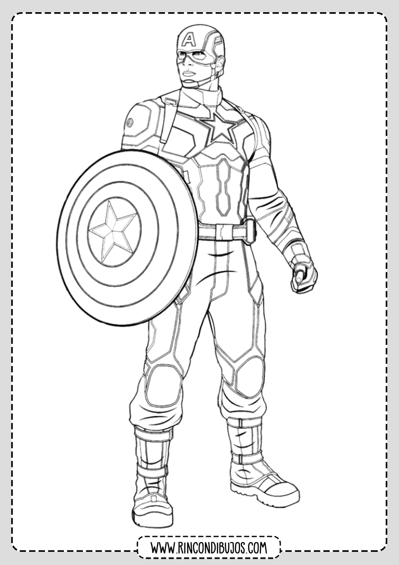 Dibujo de El capitan America para Colorear