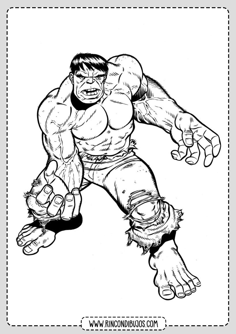 Dibujo de Hulk Colorear