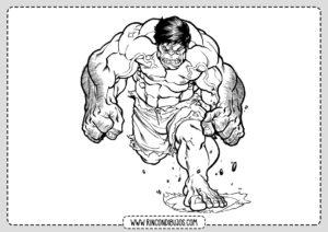 Dibujo de Hulk para Colorear