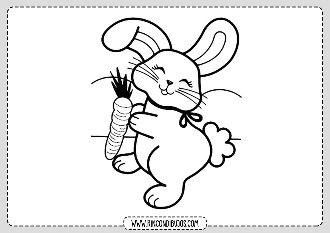 Dibujo de conejo Colorear