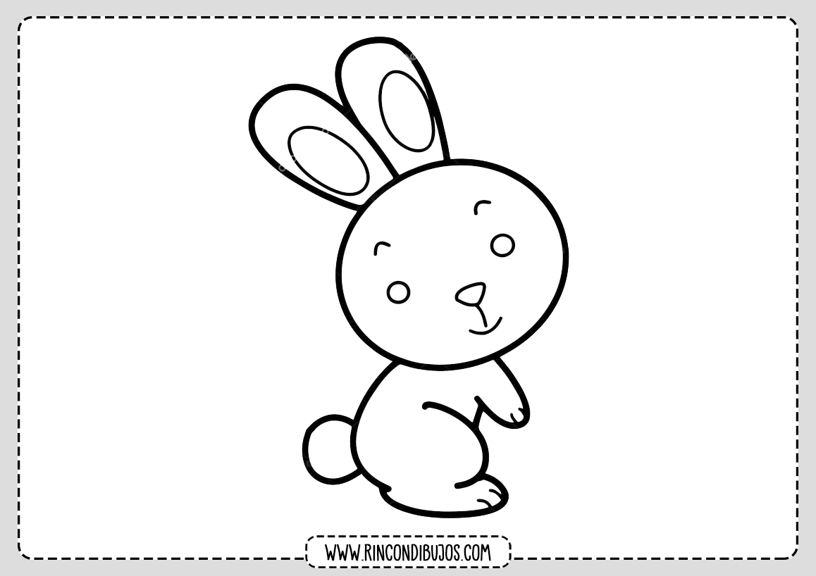 Dibujo de conejo Facil