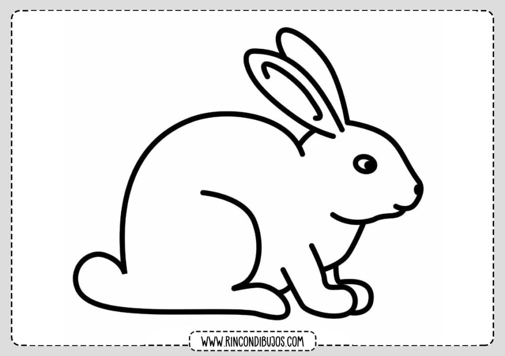 Dibujo de conejo para colorear