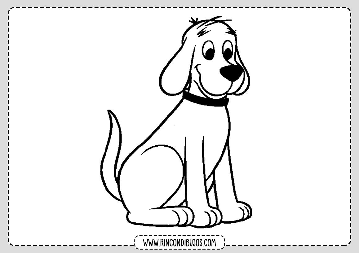Dibujos Perro para Colorear para Niños