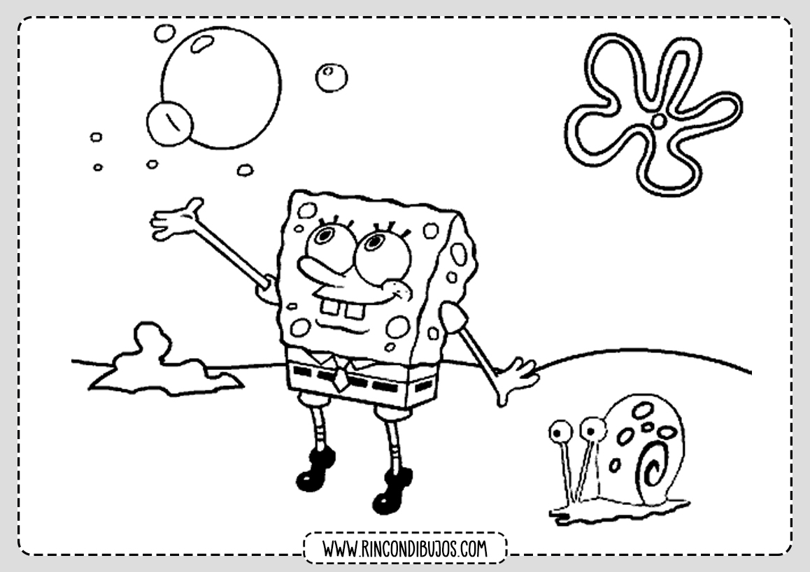 Dibujos de Bob Esponja Gratis para Colorear
