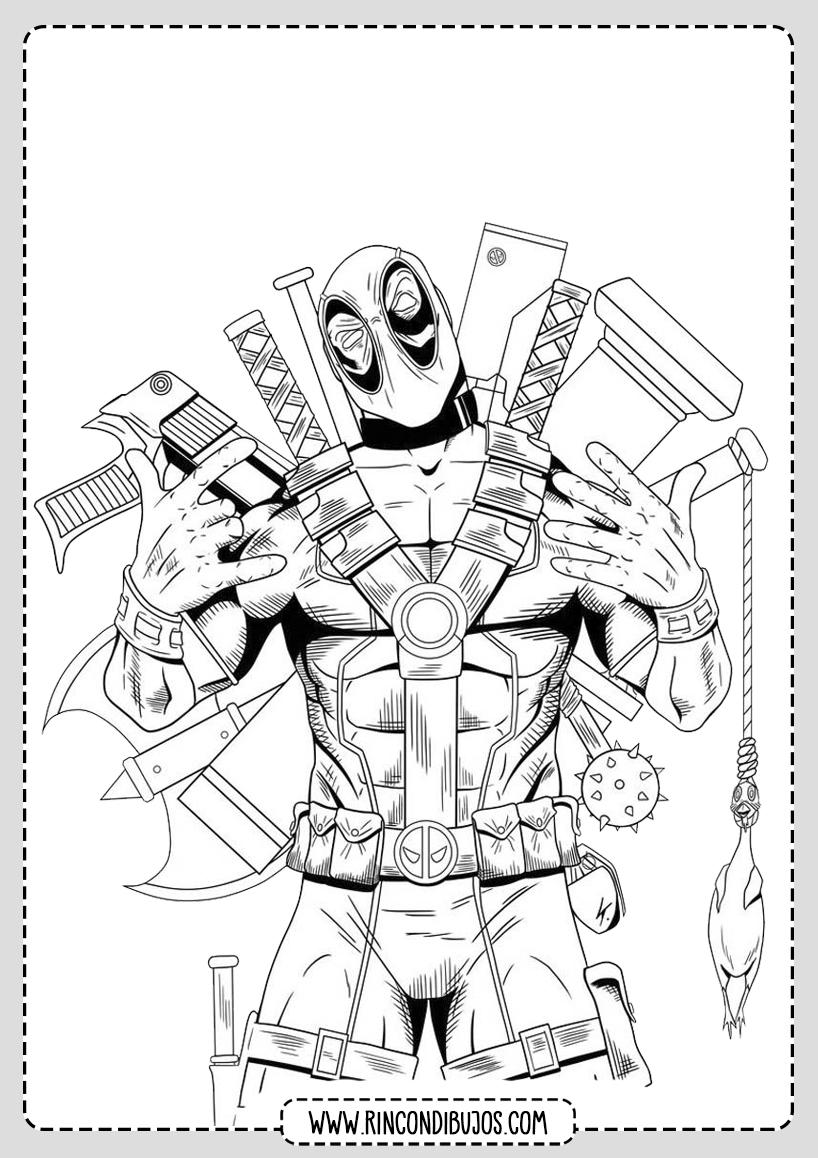 Dibujos de Deadpool para colorear
