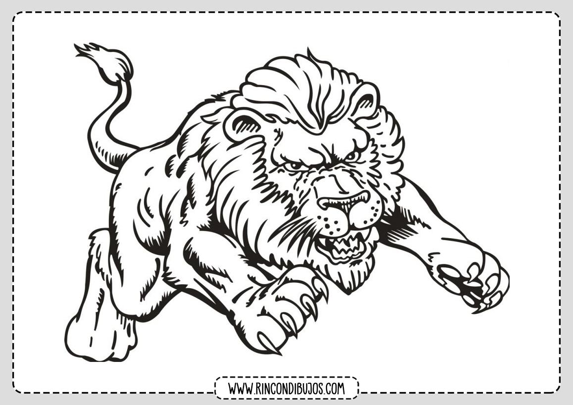 Dibujos de Leon para Colorear
