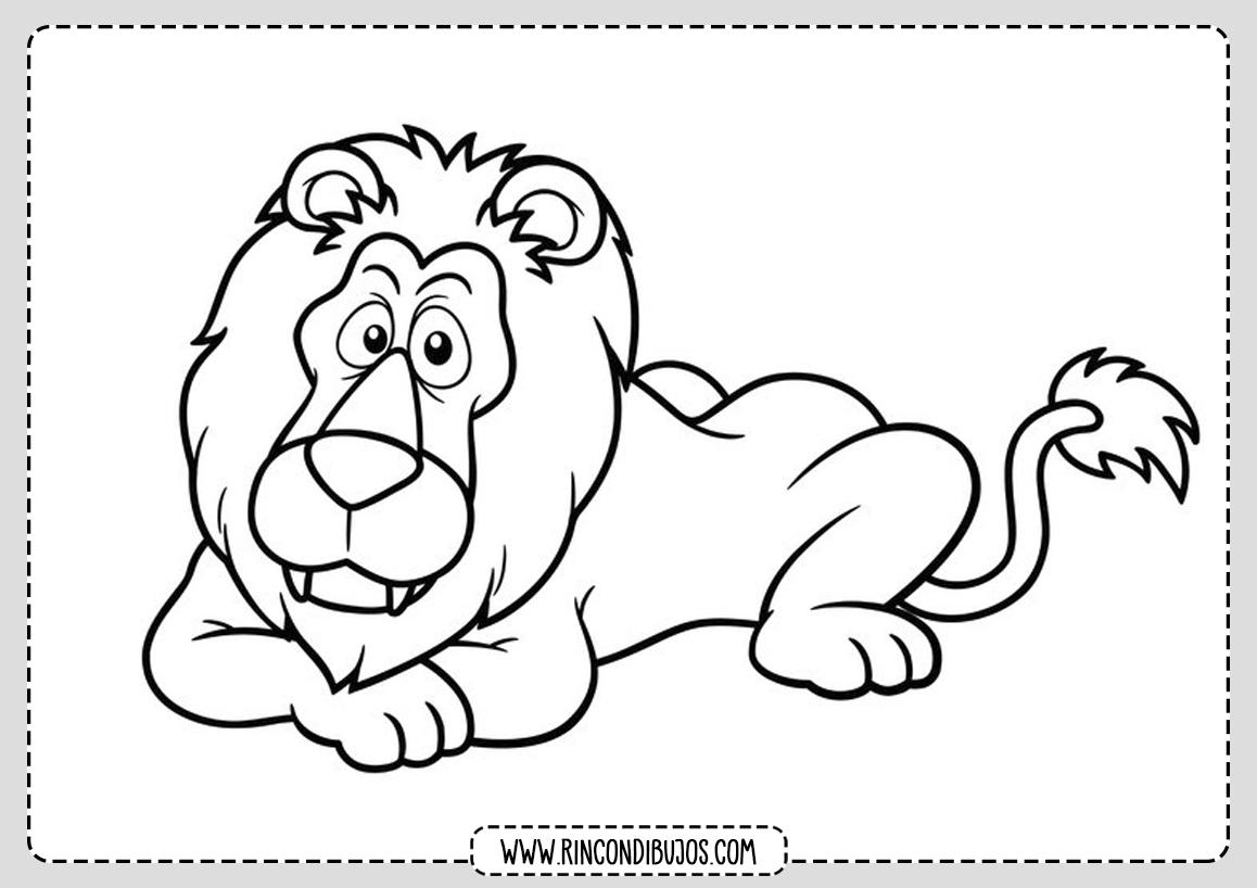 Dibujos de Leones para colorear para niños