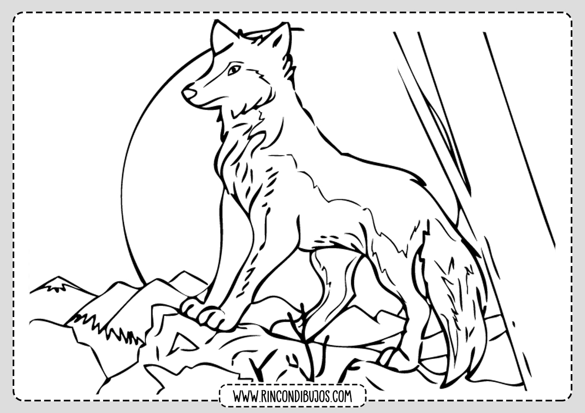 Dibujos de Lobos para Pintar