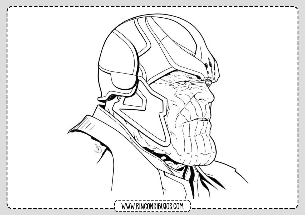 Dibujos de Thanos Imprimir y Colorear