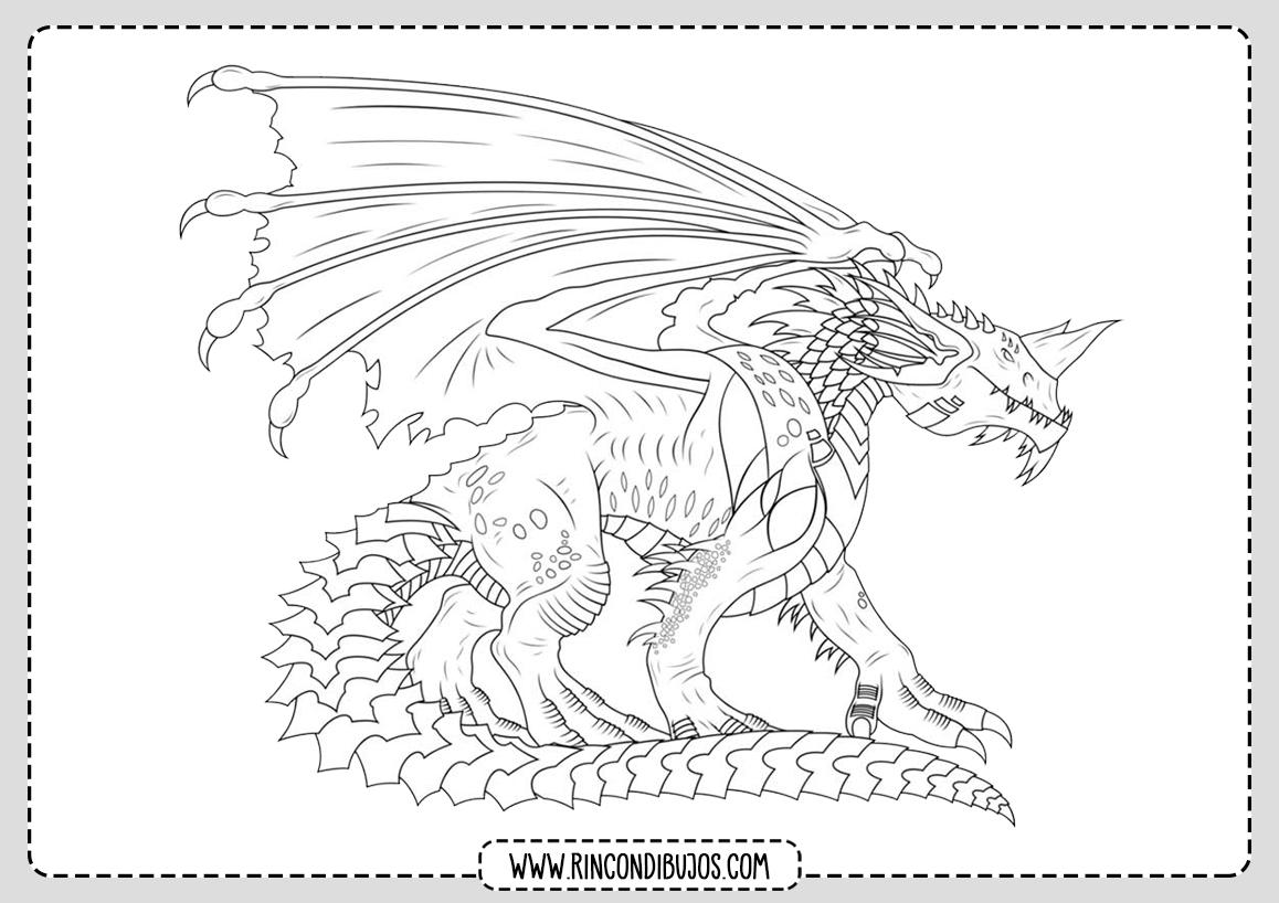 Dragones para Colorear