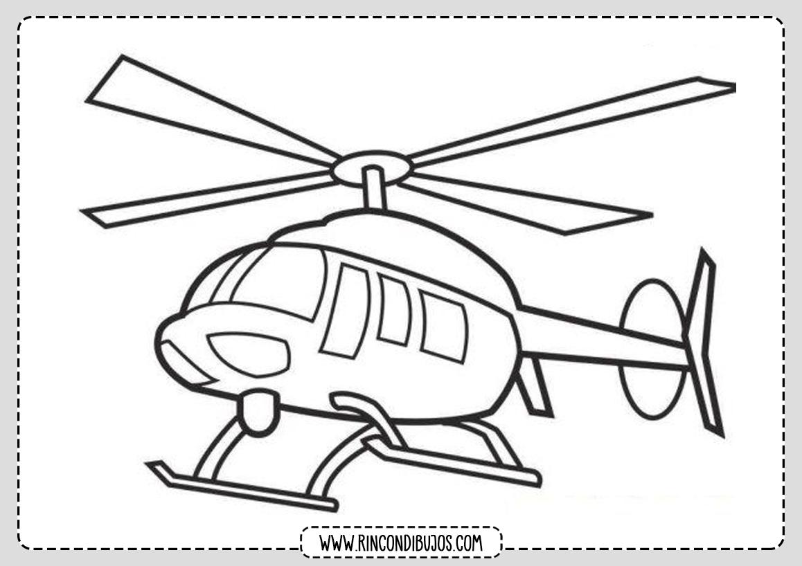 Helicopteros para colorear