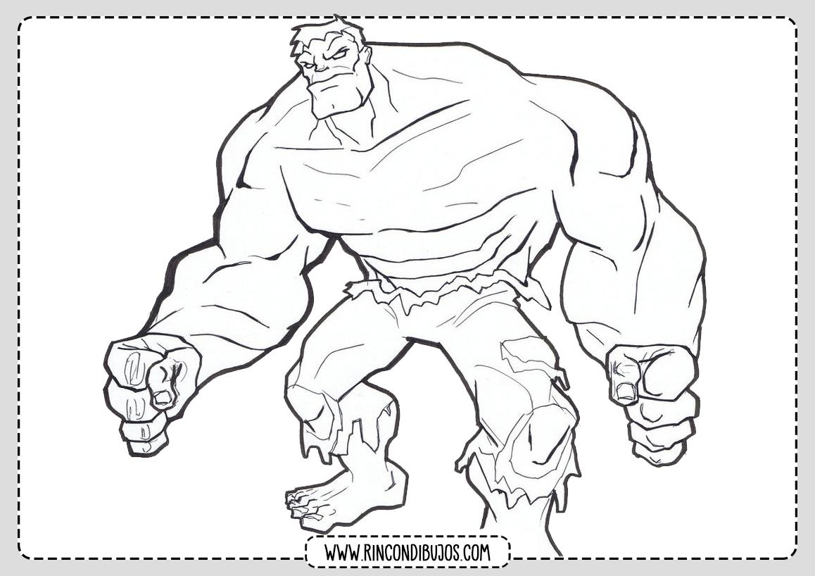 Hulk Colorear