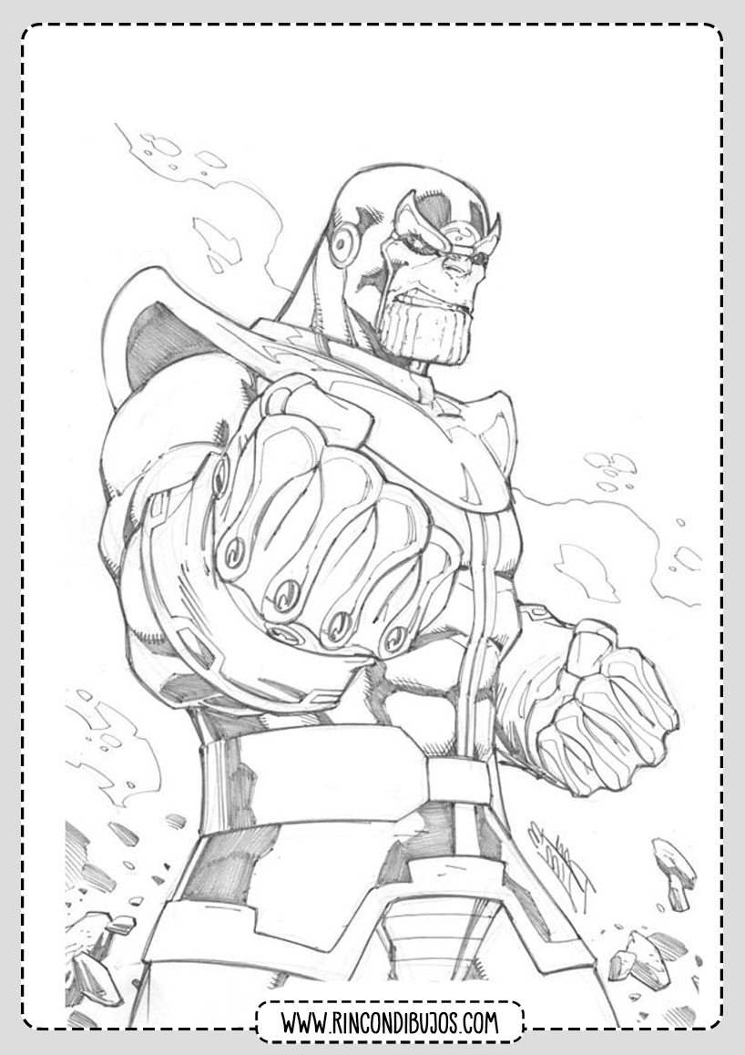 Imprimir Dibujos de Thanos para Colorear