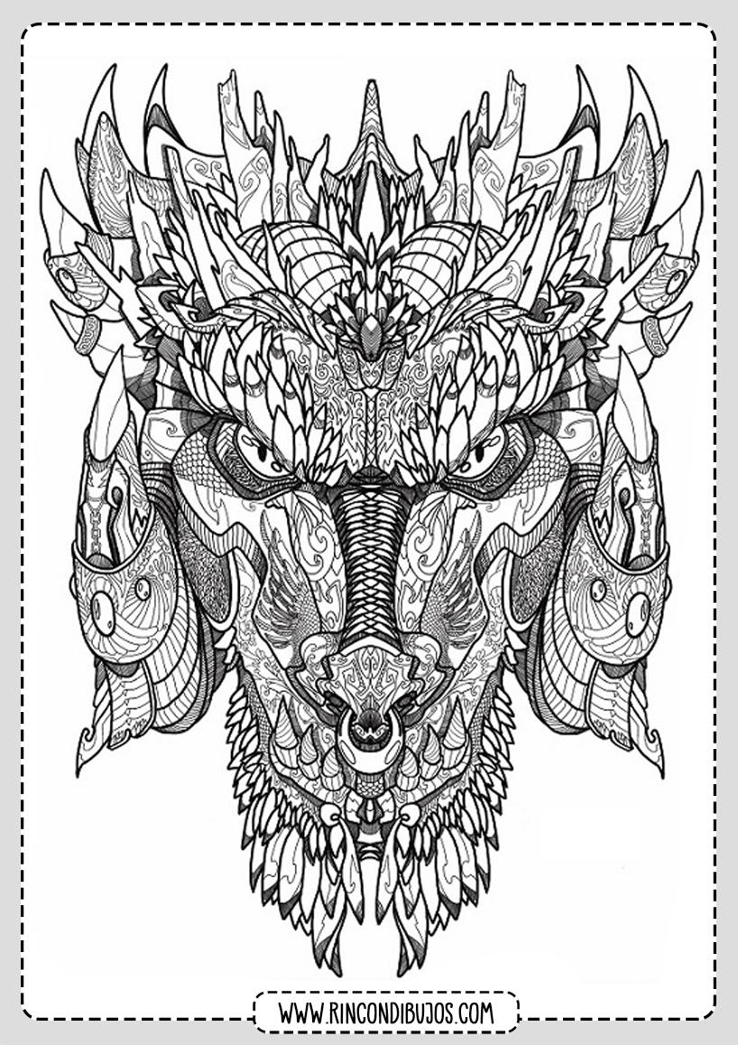 Mandala de Dragon para Colorear