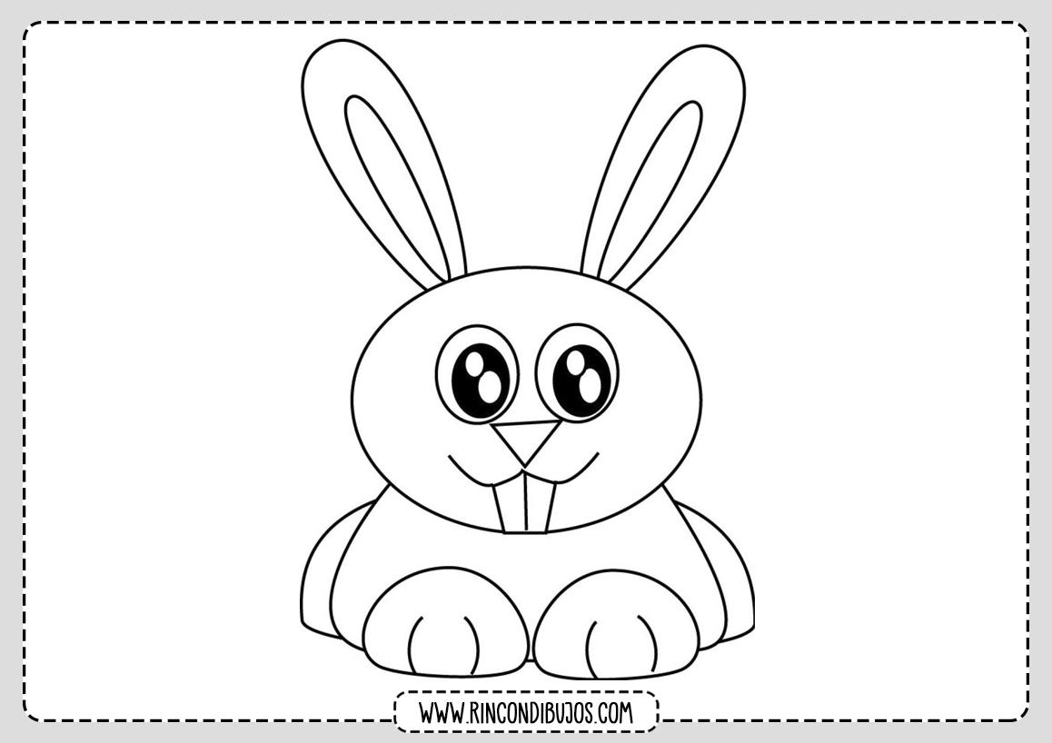 Para Niños Dibujo de conejo