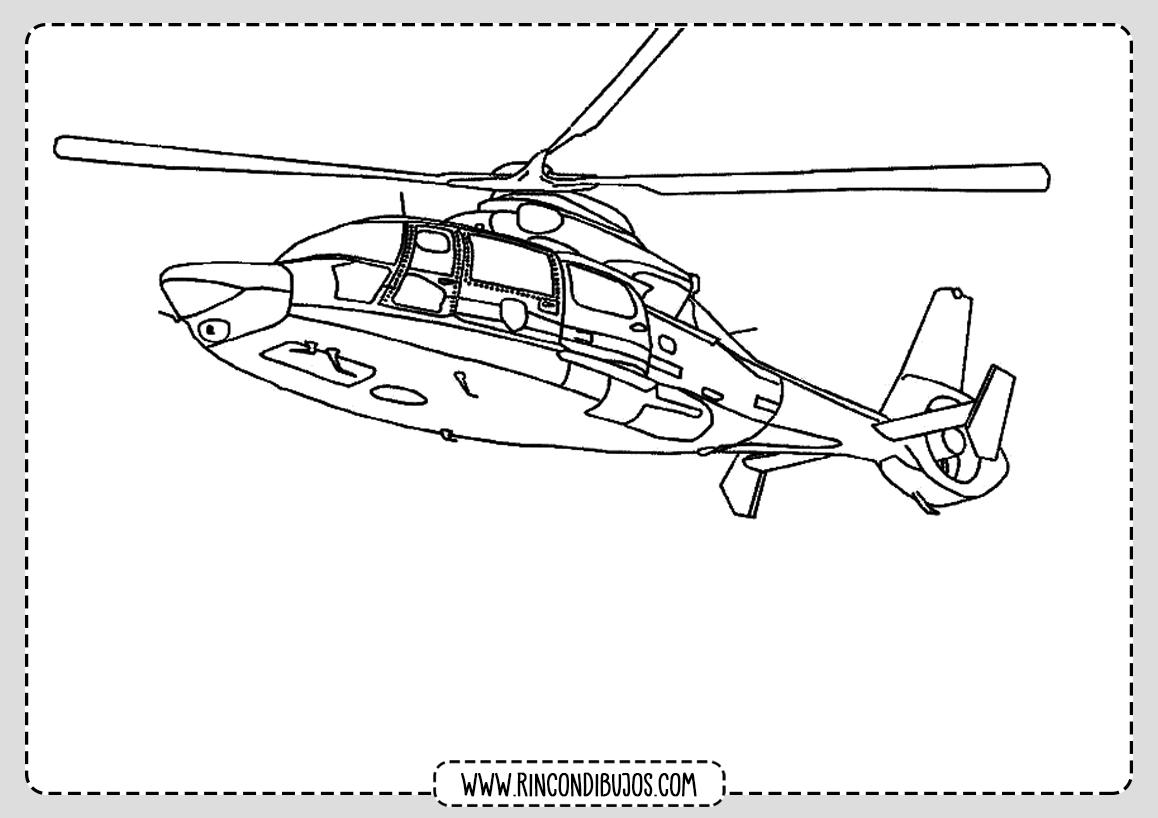 Pintar Dibujos de Helicopteros