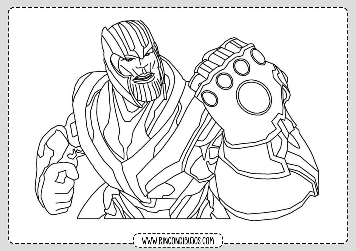 Pintar Dibujos de Thanos