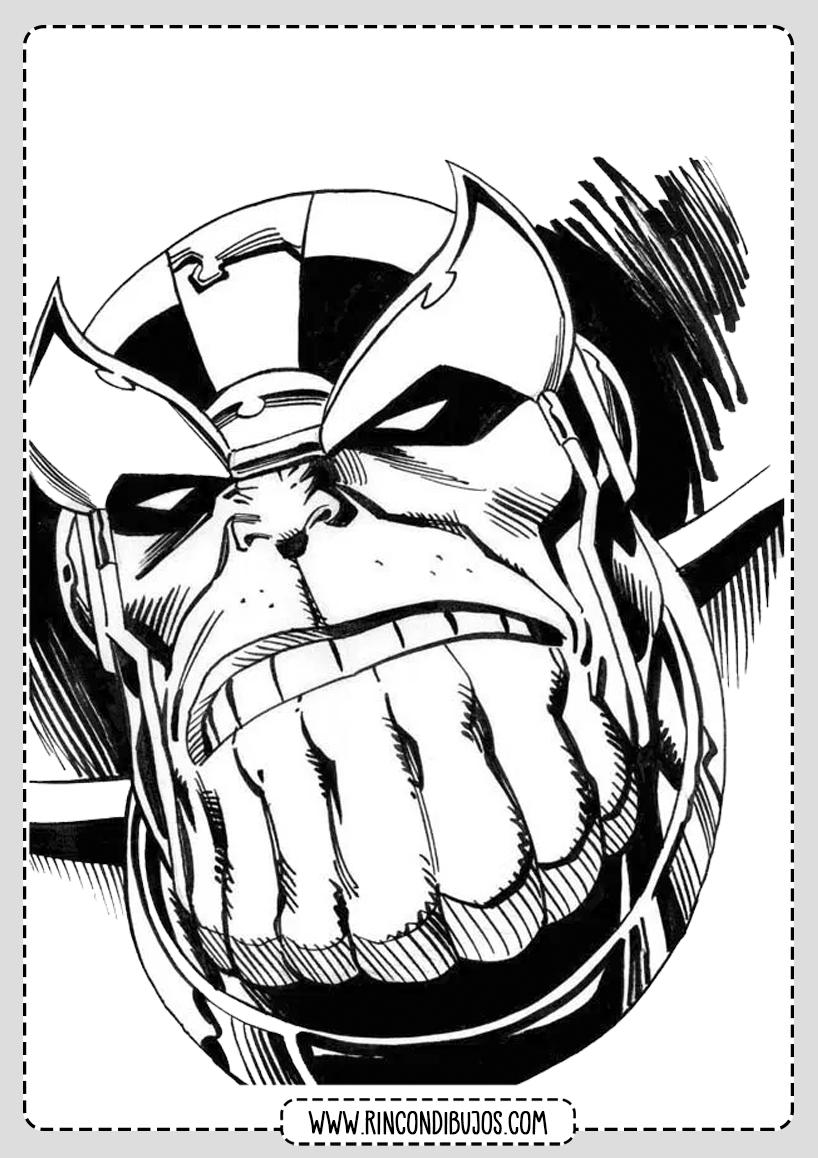 Superheroes Dibujos de Thanos Colorear