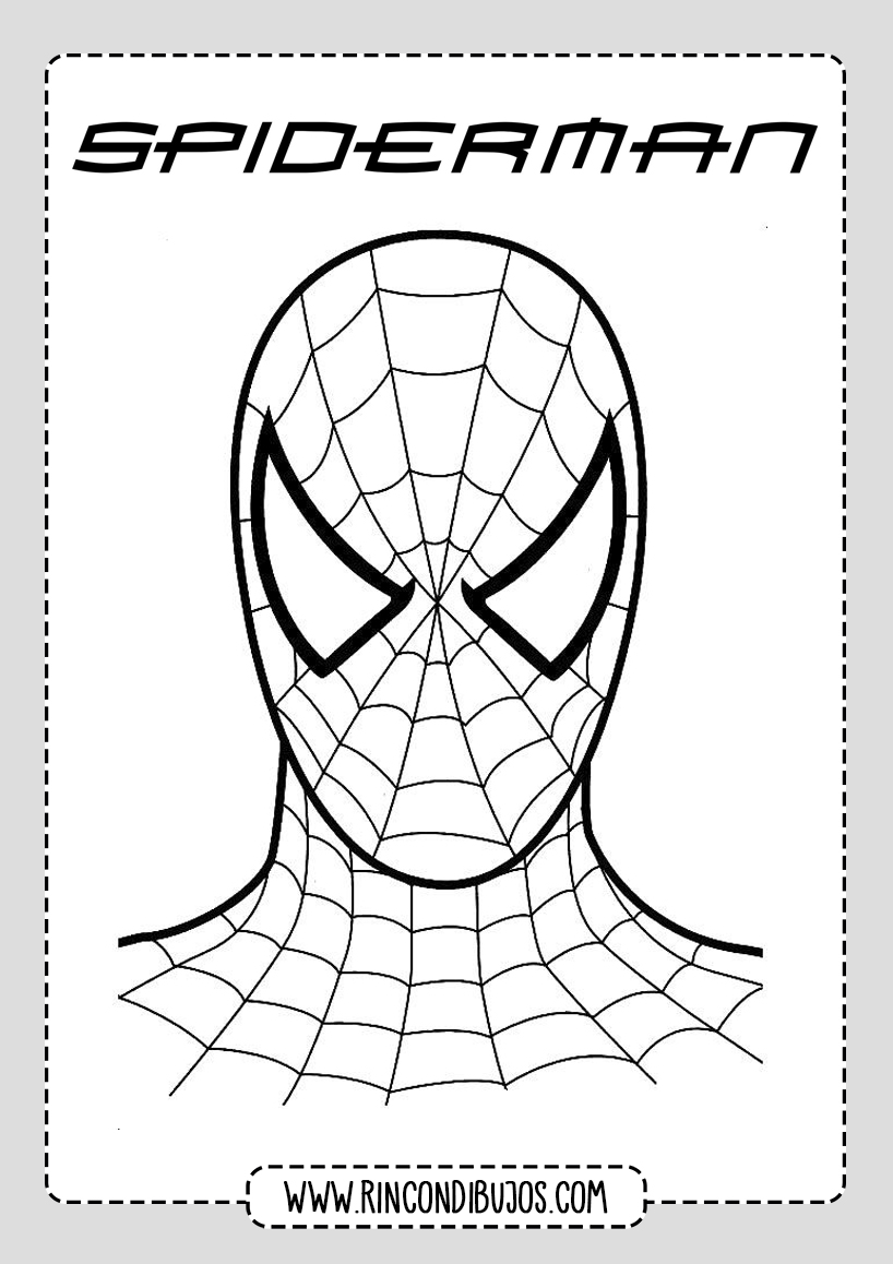Dibujo Cara Spiderman