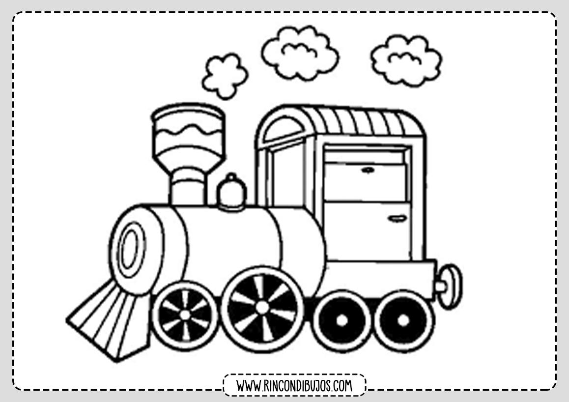 Dibujo Colorear Trenes