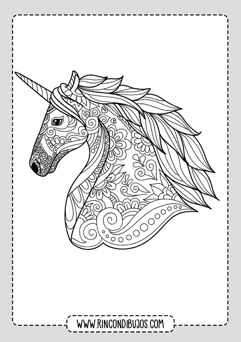 Dibujo Mandala Unicornio