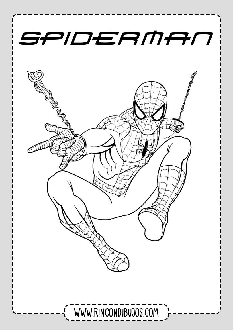 Dibujo de Spiderman volando