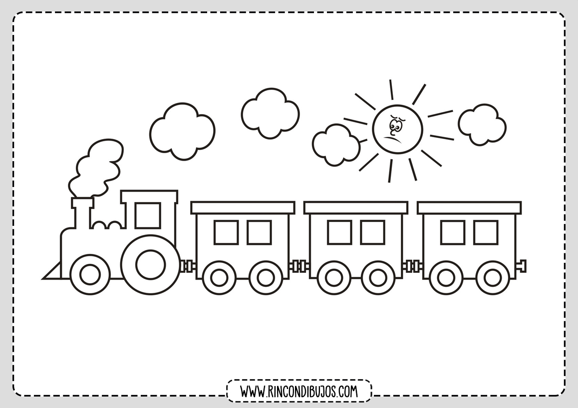 Dibujo de Tren para Colorear