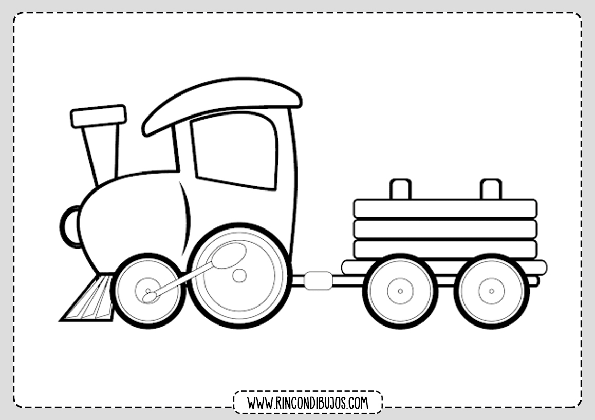 Dibujo de Tren y Locomotora Colorear