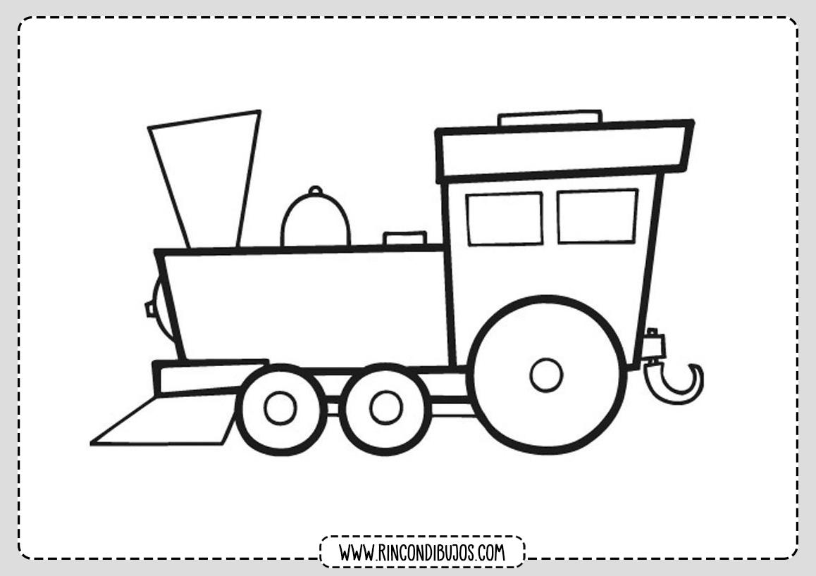 Dibujo de Trenes para Colorear