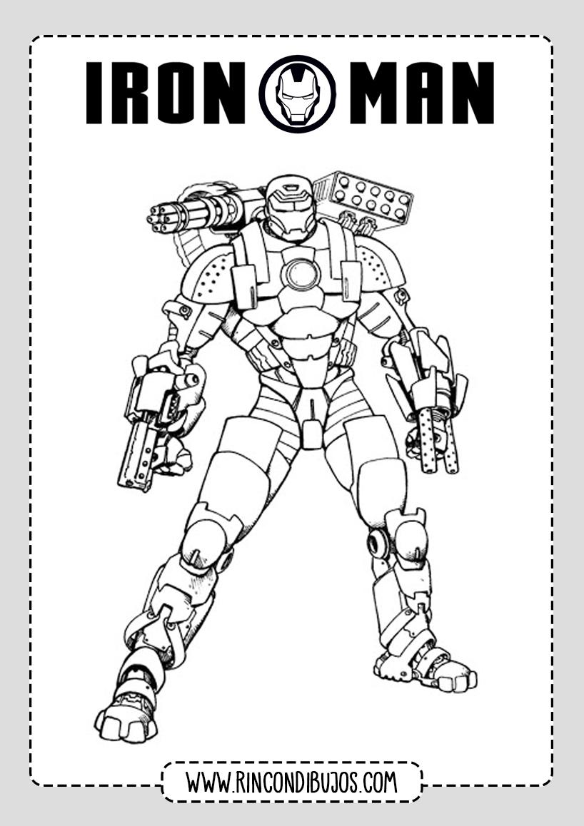Dibujo para Colorear de Iron Man Volando
