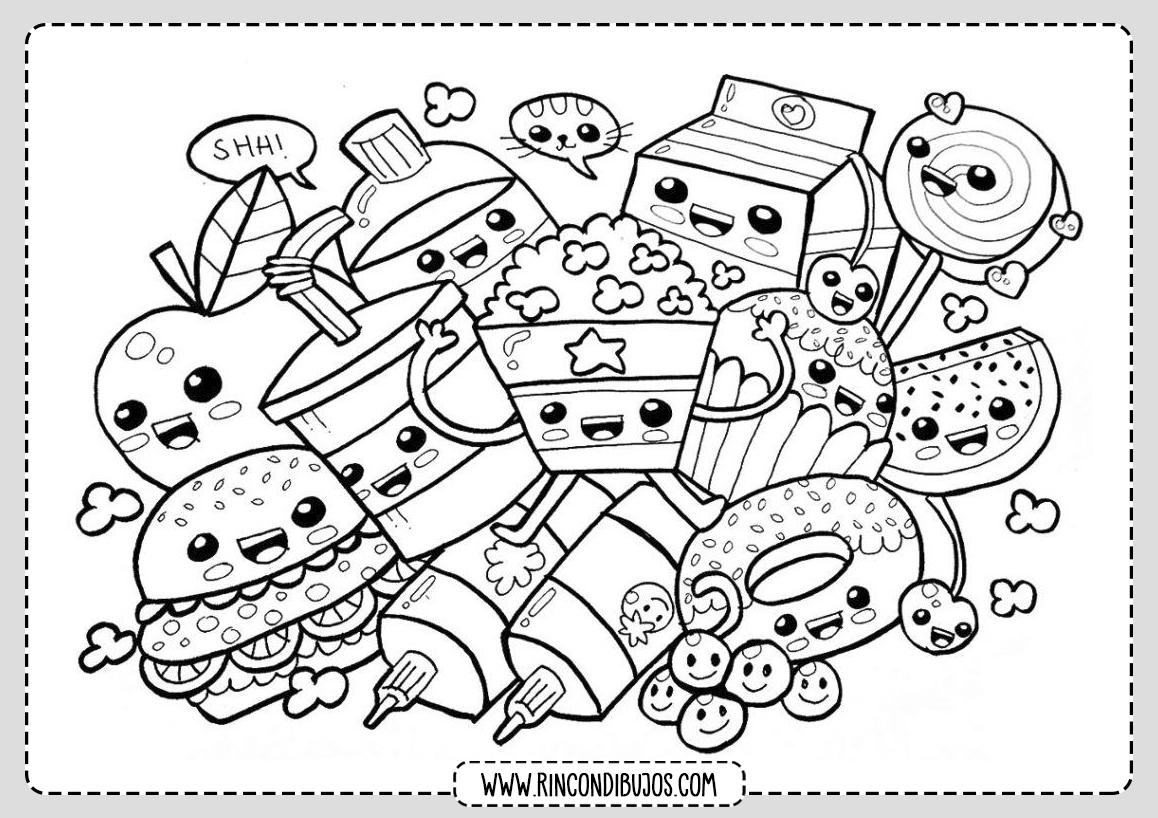 Dibujos Colorear Kawaii