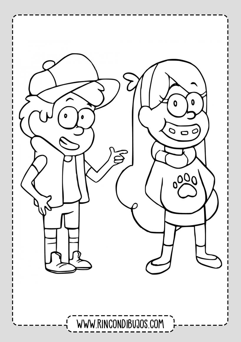 Dibujos Niños Gravity Falls Colorear