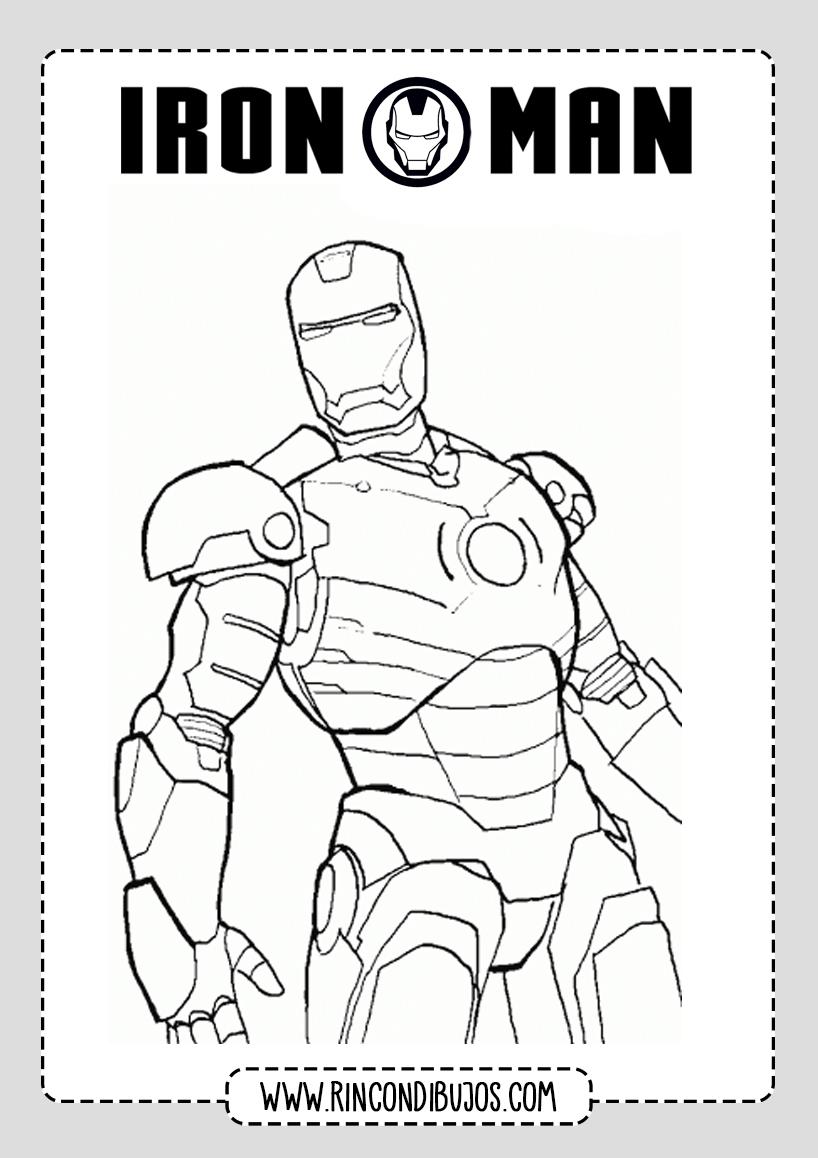 Dibujos Para Niños de Iron Man Colorear