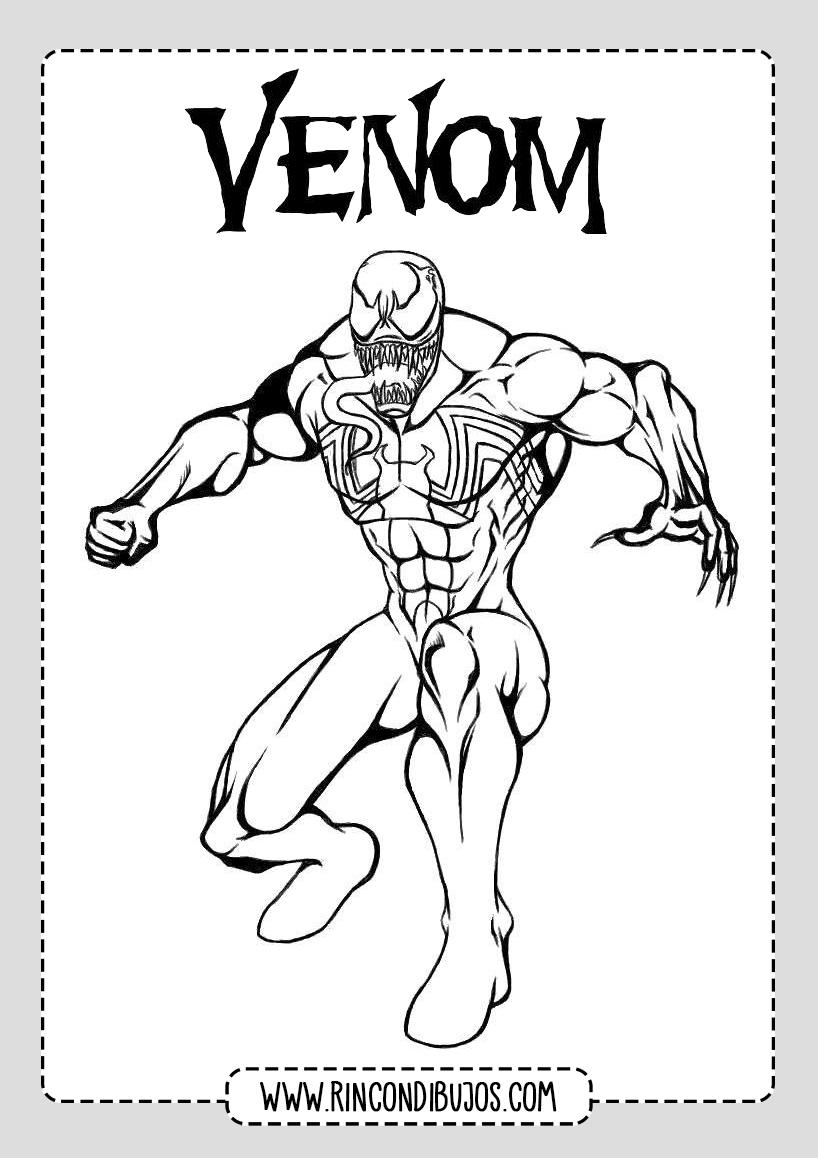 Dibujos Venom para pintar