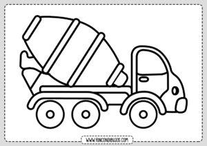 Dibujos de Camiones para Colorear
