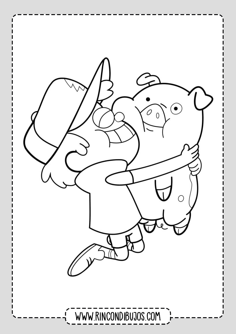 Dibujos de Gravity Falls para colorear
