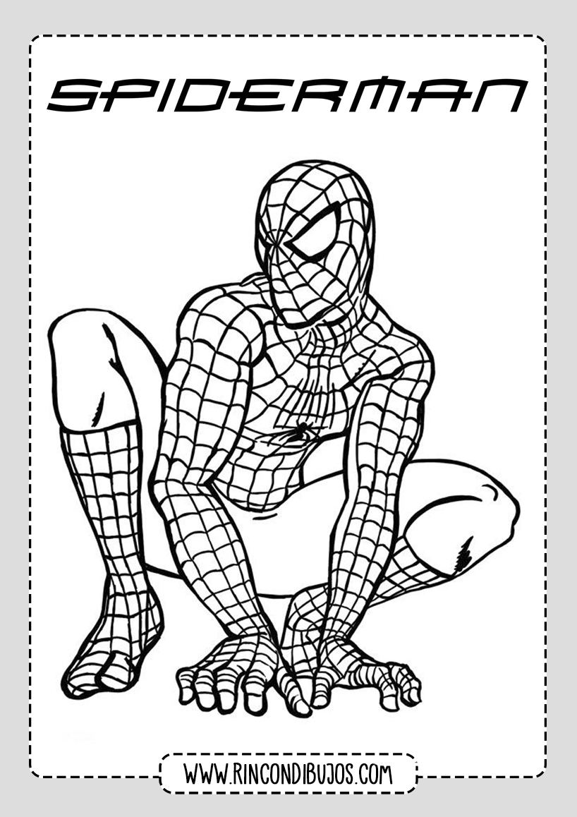 Dibujos de Spiderman gratis