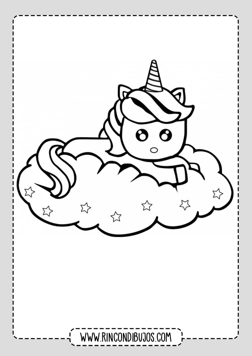 Dibujos de Unicornios Bonitos para colorear
