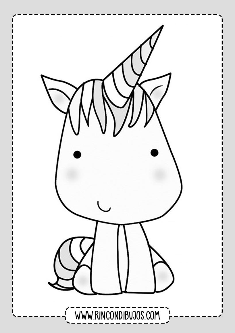Dibujos de Unicornios Colorear