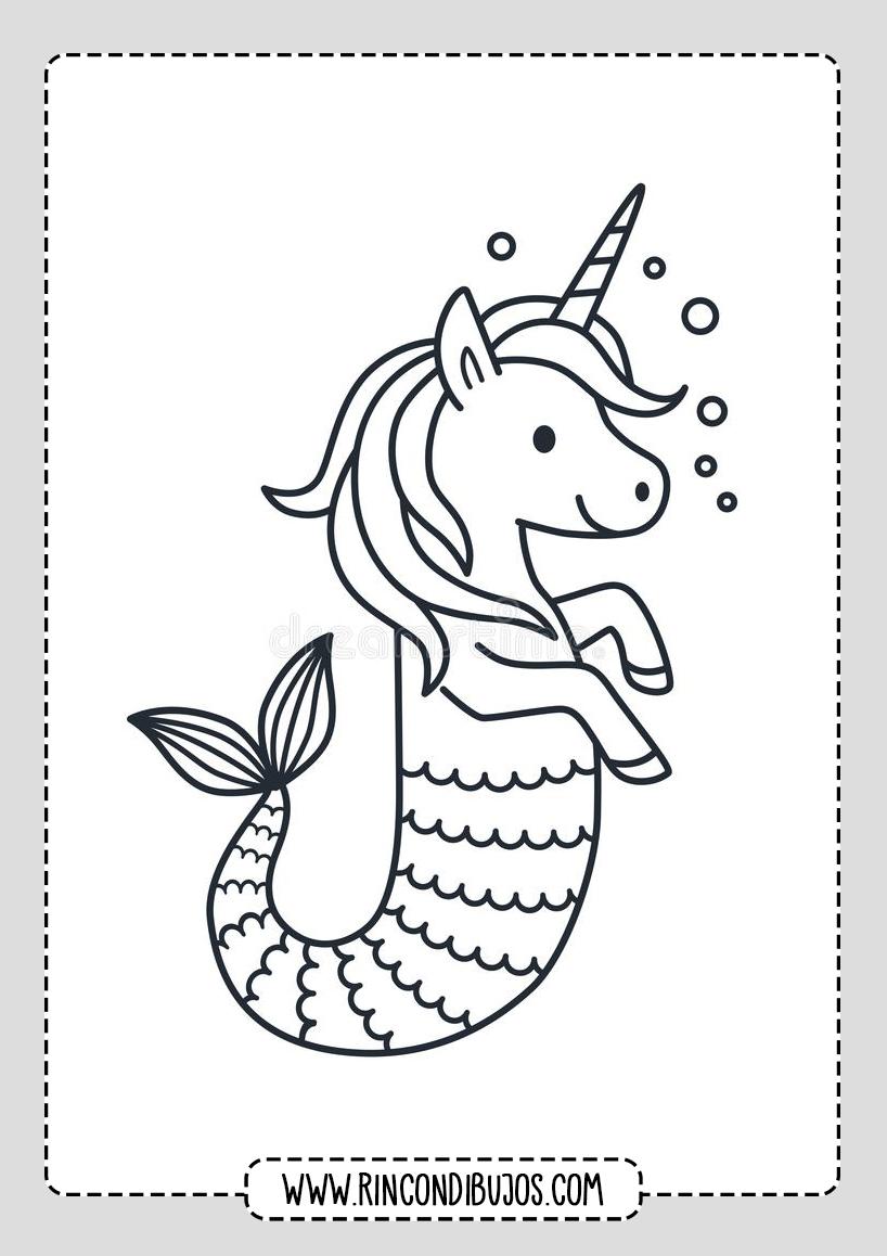 Dibujos de Unicornios Para pintar