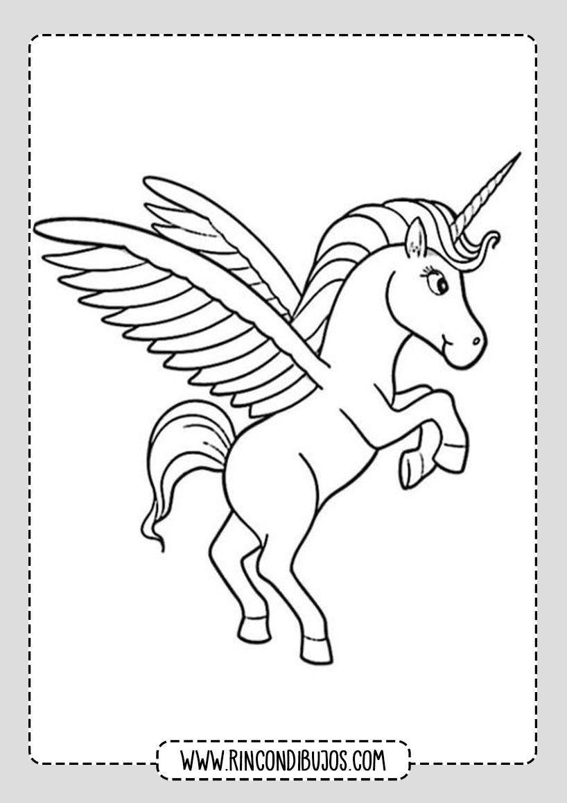 Dibujos de Unicornios con Alas